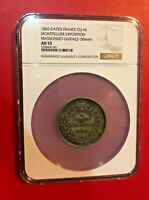 1860 DATED FRANCE CUNI MONTPELLIER EXPOSITION MASSONNET UNIFACE 50MM NGC AU 55