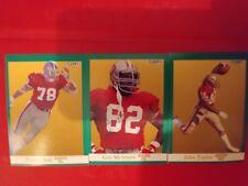 1991 Fleer Football San Francisco 49ers 3 card lot