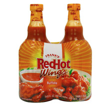 Franks™ Red Hot Wings Buffalo Sauce Marinade 🌶 2 x 680ml Large Bottles 🇺🇸