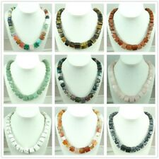 Beautiful mix agate Handmade Gemstone Jewellery Necklace AA_7