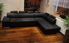 "Echtleder Ecksofa "" London Pik "" Echt Leder Sofa Couch Bettfunktion Rindsleder"
