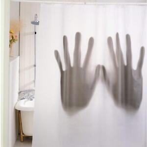 Scary Novelty Shower Curtain Horror Shadow of Giant Hands - Great Gift -Bathroom