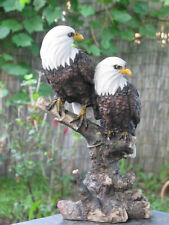 Two Bald Eagle Eagle Eagle Figurine for House and Garden Garden Statue 20036