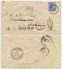 GB 1905 para Caribe, + redirigido KE7 2 1/2 D solo franqueo Bahía Honda