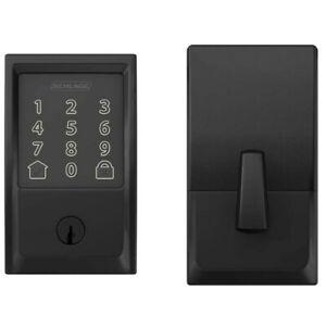 Schlage Encode SRE60120 Smart Lock Deadbolt Matt Black Works Use Google Assist