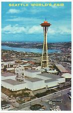 Space Needle, Seattle World's Fair View c 1962, Washington State Modern Postcard