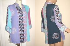 Free s/h SOFT SURROUNDINGS size PS Artsy 3/4 Slv SHIRT Jacket TOP bust 41