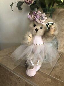 """Bearington Bears GISELLE #1466 10"""" Plush🐻Ballerina, Pink Tutu/Toe Shoes MInt"""