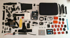 GoPro Hero 7 Black + Charger, 3x Battery, microSD, many gadgets, paquete de accesorios)