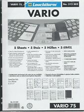 New Vario Stock Sheets 7S Two-Sided Horizontal Pockets Black Pkg. 5