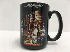 DON ED HARDY 12 oz COFFEE/TEA CUP/MUG GIRL BUTTERFLIES ANCHOR HTF GUC