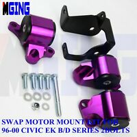 Engine Motor Mounts For Honda Civic EK D16 B16 B18 B20 96-00 97 98 62A Purple