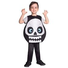 Child's Ragazze Scheletro Teschio Tabard Fancy Dress Costume di Halloween Party