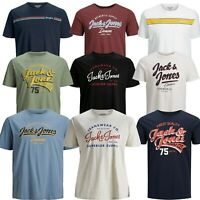 Mens Jack & Jones Logo Printed Crew Neck Short Sleeve Plus Size T-Shirt Tops