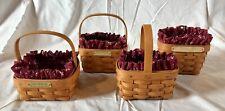Longaberger Baskets lot of 4