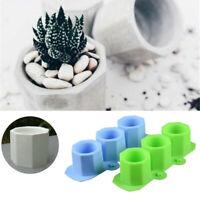 3D Würfel Beton Silikonform Blumentopf Zement Vase Mold Garden Dekor