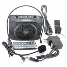 Amplifier Waistband Mini Portable FM USB SD MP3 PA Microphone Remote Control