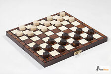 Wooden Hand Made Draughts Checkers Set 25 X 25 Cm Hornbeam Wood
