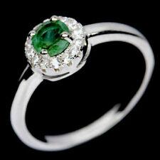 TOP EMERALD RING : Natürliche Grün Smaragd Ring Sterlingsilber R147