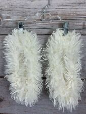 Unbranded Soft White Furry Slippers Soft Gripper Bottoms Women's Size M (7/8)