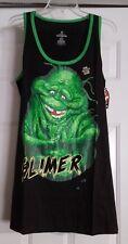 New Mens Sleepwear Black Glow In Dark Ghostbuster Slimer Ghost Tank Shirt Large