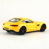 AMG GTS 1/36 Die Cast Modellauto Spielzeug Kinder Pull Back Gelb