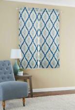 4 Pairs Mainstays Distressed Ikat Room Darkening Window Curtain Panel Pair