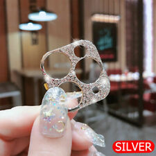 For iPhone 11 Pro Max/11 Metal Diamond Camera Lens Protector Glitter Case Cover