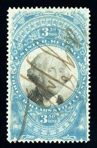#R126, $3.50 Blue & Black, VF, nicely centered, 2010 PF certificate, Scott $500