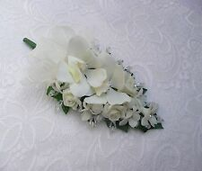 Wedding flower buttonhole mother of the bride/ groom ivory orchid... PIN ON