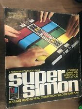 1979 Milton Bradley Super Simon Electronic Computer Controlled Game PARTS/REPAIR