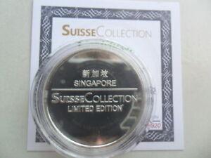 Singapore Suisse Collection 1 Troy Oz .999 Silver Medallion