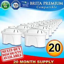 20 x Brita Maxtra Premium Compatible FL402 Replacement Water Filter Cartridge