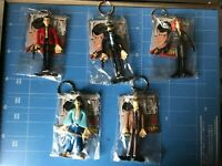 """Banpresto,Lupin The 3rd Bendable key-holder,""""All 5 Items Complete Set!"""""""