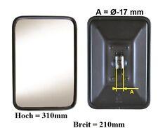 Außenspiegel Bügelspiegel L.LKW Bagger Unimog 310x210mm ø17mm Metall Gehäuse