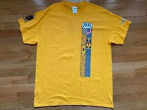 Ryan Hunter-Reay RHR Sz L Mens T-Shirt Yellow DHL IndyCar Andretti Indy 500