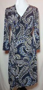Banana Republic Paisley Wrap Dress sz M