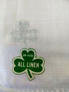 New Men's Handkerchief All Irish Linen White Pack of 3, 6 Or 12.
