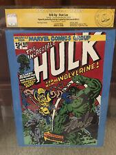 Incredible Hulk #181 CGC Stan Lee Signature! Signed! Erik Og Painting! cm