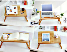 Laptop desk Bamboo adjustable folding stand Laptop Holder Portable Coffee table