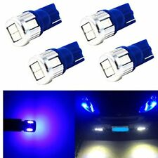 Alla Lighting 4x 6-LED License Plate Light Bulb Tag Lamps Blue 194 168 2825 W5W
