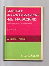 manuale di organizzazione della produzione - russo-frattasi - maydician