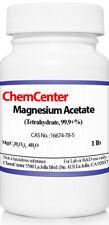 Magnesium Acetate, Tetrahydrate, Ultra Pure, 99.9+%, 1lb.