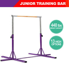 Adjustable Gymnastics Horizontal Bar Junior Training Home Gym Equipment Purple