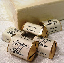 120 IVORY MONOGRAM wedding candy WRAPPERS/STICKERS/LABELS personalized FAVORS