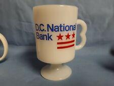 VITAGE! D.C. NATIONAL BANK MILK GLASS COFFEE MUG