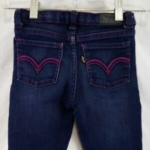 Levi's Jeans Girls Size 6 Regular Denim Legging Blue Cotton