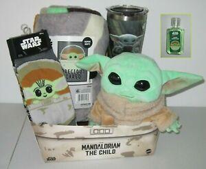 Star Wars Mandalorian THE CHILD Grogu 4pc GIFT SET -plush Baby Yoda, throw &more