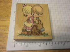 Stampendous Precious Moments  Rubber Stamp UV010 One Another!  Rare!