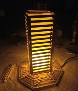 Wooden Hand Made Lamp Shade/Bedside/Floor Table/Meditation/Home Décor/Livingroom